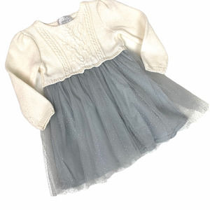 Gymboree Cable Knit Sweater Grey Tulle Dress